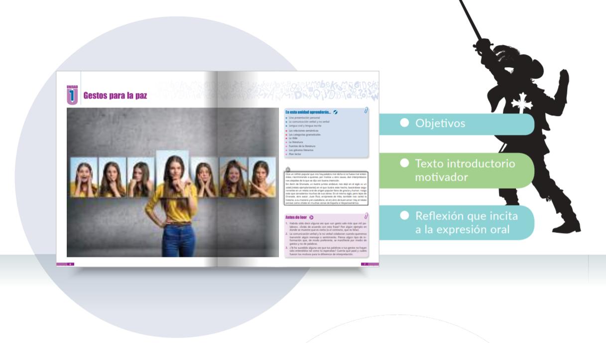 Organización del contenido de los libros de texto de Lengua Castellana y Literatura de la ESO.