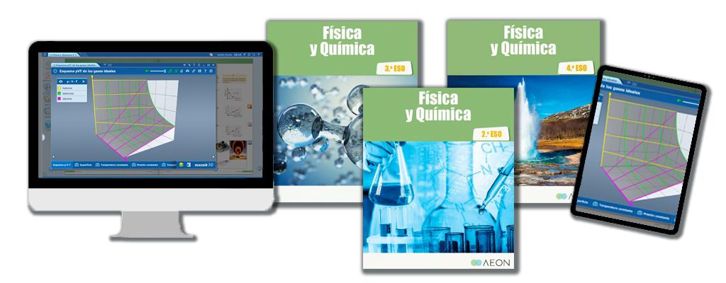 Libros de texto de Física y Química para la ESO.