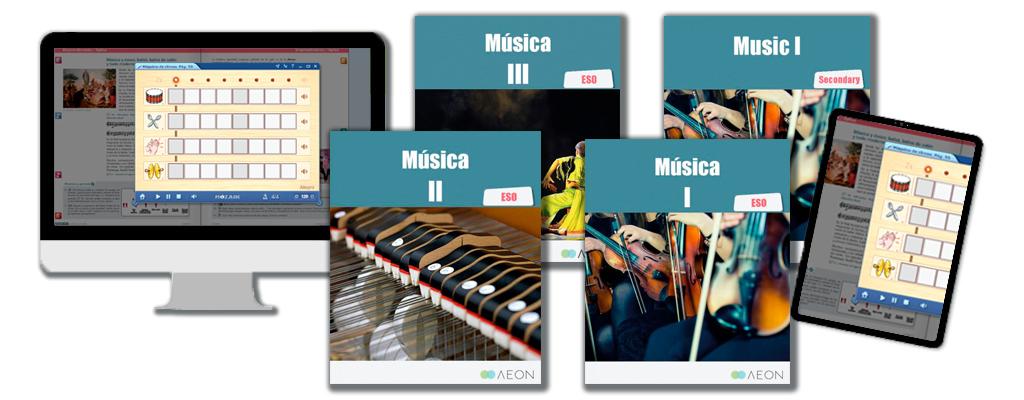 Libros de texto de Música para la ESO.