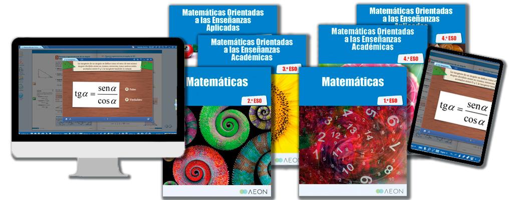 Libros de texto de Matemáticas para la ESO.