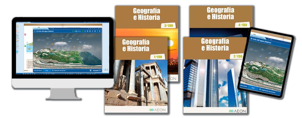 Libros de texto de Geografía e Historia para la ESO.
