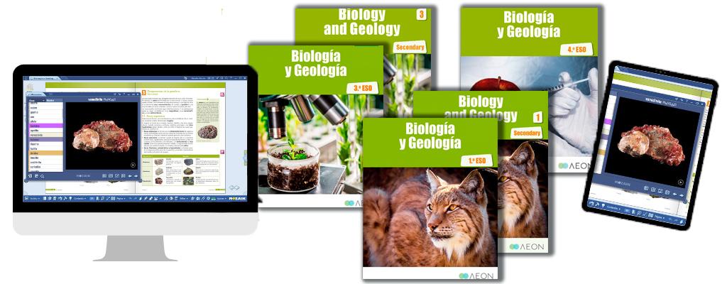 Libros de texto de Biología y Geología para la ESO.