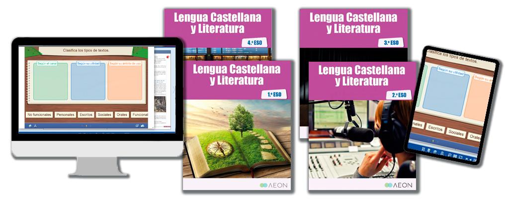 Libros de texto de Lengua Castellana y Literatura para la ESO.